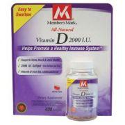 "Member""s Mark - Vitamin D 2000 IU, 400 Softgels, Easy To Swallow"