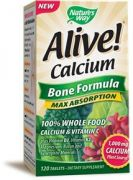 "Nature""s Way Alive! Calcium Bone Formula -- 120 Tablets"