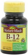 Nature Made Vitamin B-12 500 Mcg, Tablets, 100-Count (Pack Of 2)