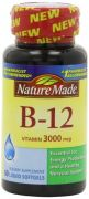 Nature Made Vitamin B-12 Softgels, 3000 Mcg, 60 Count