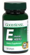 GoodSense Vitamin E 400 IU Softgels, 100 Count