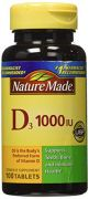 Nature Made Vitamin D3 1000 IU, 100 Tablets