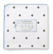 SwaddleDesigns Ultimate Receiving Blanket, Angry Birds Baby, Blue Bird