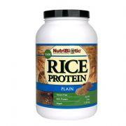 NutriBiotic Rice Protein Powder Raw Vegan Plain -- 3 Lbs