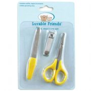 Luvable Friends 3 Piece Manicure Set, Yellow