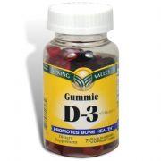 Spring Valley - Vitamin D-3 1000 IU, Peach, Blackberry, Strawberry Gummie Flavors, 75 Gummies
