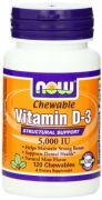 Now Foods Vitamin D-3 5000 Iu Chewable, Mint, 120-Count