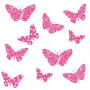 RoomMates RMK1325SLG Flocked Butterfly Peel & Stick Wall Decals