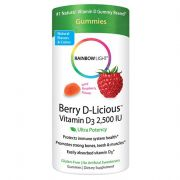 RAINBOW LIGHT Vitamin D3 2500 LU, Berry D-Licious, 50 Count