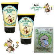 Baby Anti-Monkey Butt Cream 3 Oz. **2 Pack** And BONUS Tooth Tissue Sample