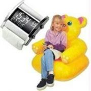Men Digital Watch And Teddy Bear Inflatable Sofa