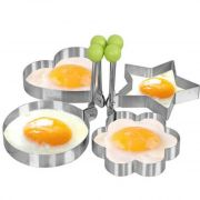 Fried Eggs Die Stainless Steel Mold 4 Design With Silicon Brush