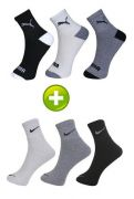 Buy 3 Pair Nike Socks Get 3 Pair Puma Socks Free