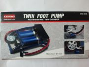 Coido Foot Air Pump Compressor 8cm Twin Cylinder For Bike Car