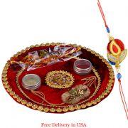 Designer Rakhi Thali For Usa