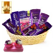 Cadbury Chocolate Hamper And Free Diya For Diwali