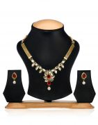Arum Designer Coreana Kundan Necklace Set