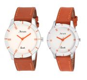 Arum Trendy Brown Watch For Couple