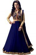 Vinni Tex Blue Net Fabric Semi-stitched Anarkali Suit - Angel_blue