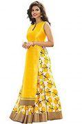 Style Amaze Yellow Bhagalpuri Indian Pakistani Printed Lehanga Choli-sasunday-1069