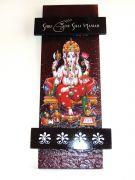 Decorative Key Holder With God Photo - Shree Ganesh 115