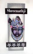 Key Holder - Decorative, Wooden, Handcrafted With God Photo - Shreenathji