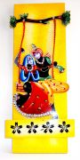 Key Holder - Decorative, Wooden, With God Photo - Radhe Krishna 209