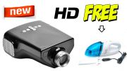 High Definition Dolphin Projector Black