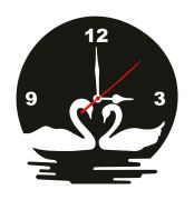 Enamel Wall Clock Duck Mdf Wooden Size 9 Inch
