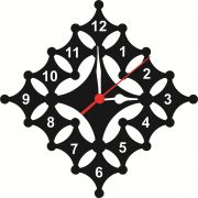 Enamel Wall Clock Taash Mdf Wooden Size 9 Inch