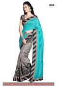 Bikaw Multi Color Printed Bhagalpuri Silk Traditional Style Saree