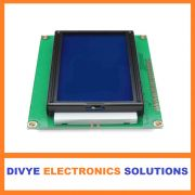 128x64 Pixel Graphical LCD Module (blue)