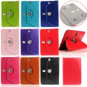 Universal Tablet 360 Degree Rotating Leather Case Cover Stand For 7inch