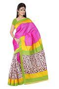 Mahadev Enterprises Pink Colour Bhagalpuri Silk Saree Meb_09