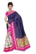 Mahadev Enterprises Blue Colour Bhagalpuri Silk Saree Meb_12