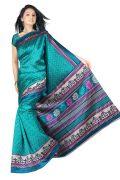 Mahadev Enterprises Green Colour Lichi Silk Saree Mel_0253