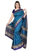 Mahadev Enterprises Rama Colour Lichi Silk Saree Mel_054