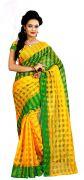 Mahadev Enterprises Green Colour Art Cotton Saree Mkv_101
