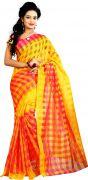 Mahadev Enterprises Red Colour Art Cotton Saree Mkv_102