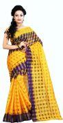 Mahadev Enterprises Purple Colour Art Cotton Saree Mkv_103