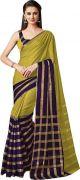 Mahadev Enterprises Olive Color Cotton Saree With Unstitched Blouse Pics Pf48