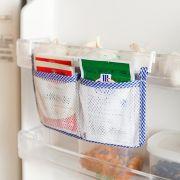 2 X Kitchen Refrigerator Storage Bag Hanging Bags Fridge Vegetable Organizer