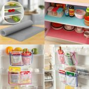 Combo Offer 2 X Kitchen Refrigerator Storage Bag 1 X Multifunction Refrigerator Pad Mat