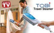 Urban Living Tobi Quick Travel Steamer(27.9x6.3x5.08 Cm,white - Blue)