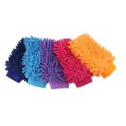 2 X Car Cleaning Tools Delicate Double Sided Chenille Mitt Microfiber Wash Gloves Auto Dust Washing Cleaning Glove