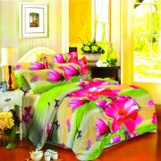 Vertex Industries 3d Polyester Double Bedsheet With 2 Pillow Cover Vibs.1005