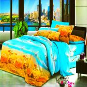 Vertex Industries 3d Polyester Double Bedsheet With 2 Pillow Cover Vibs.1006