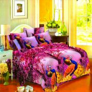 Vertex Industries 3d Polyester Double Bedsheet With 2 Pillow Cover Vibs.1009
