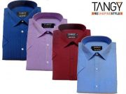 Tangy Pack Of 4 Half Regular Fit Shirts