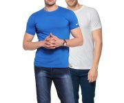 Zorchee Men's Round Neck Cotton Plain T-shirts -pack Of 2 (code - Zo-10-11 Pl)